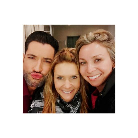 New Tom Ellis Picture – BTS Lucifer Season 4